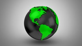 Στροφές παγκόσμιων χαρτών σε μια σφαίρα διανυσματική απεικόνιση