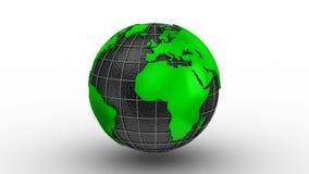 Στροφές παγκόσμιων χαρτών σε μια σφαίρα ελεύθερη απεικόνιση δικαιώματος