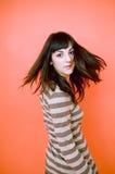 στροφή εφήβων brunette Στοκ φωτογραφίες με δικαίωμα ελεύθερης χρήσης