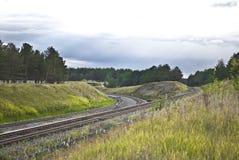 στροφή σιδηροδρόμων Στοκ Εικόνες