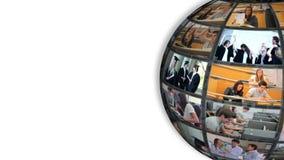 Στροφή της σφαίρας που παρουσιάζει σπουδαστές απόθεμα βίντεο