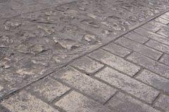 Στρωμένη τούβλο οδός σε Chiapas, Μεξικό Στοκ Εικόνα