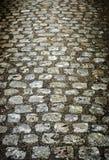 Στρωμένος ο Stone δρόμος Στοκ Φωτογραφία