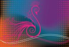 στρόβιλοι πουλιών peacock διανυσματική απεικόνιση