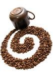στρόβιλος καφέ Στοκ εικόνες με δικαίωμα ελεύθερης χρήσης