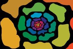 στρόβιλος λουλουδιών διανυσματική απεικόνιση