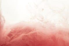 Στρόβιλος μελανιού στο νερό που απομονώνεται στο άσπρο υπόβαθρο Το χρώμα στο νερό Μαλακή διάδοση σταγονίδια του ρόδινου μελανιού  Στοκ φωτογραφία με δικαίωμα ελεύθερης χρήσης