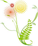 στρόβιλος 5 λουλουδιών διανυσματική απεικόνιση