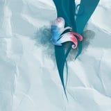 Στρόβιλοι σε τσαλακωμένο χαρτί Στοκ Φωτογραφία