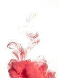 Στρόβιλος μελανιού στο νερό που απομονώνεται στο άσπρο υπόβαθρο Το χρώμα στο νερό Μαλακή διάδοση σταγονίδια του ρόδινου μελανιού  Στοκ φωτογραφίες με δικαίωμα ελεύθερης χρήσης