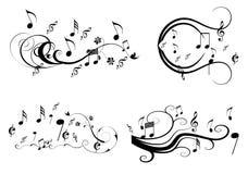 Στρόβιλος μουσικής Στοκ Φωτογραφία