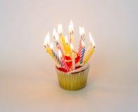 Στρόβιλος Cupcake φραουλών Στοκ Εικόνες