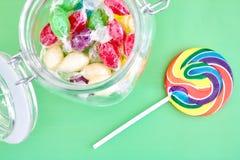 Στρόβιλος Lollypop καραμελών Στοκ Εικόνες