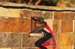 Στρόφαλος χάλυβα με το γρανάζι Στοκ φωτογραφία με δικαίωμα ελεύθερης χρήσης