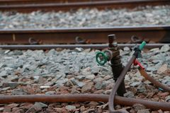 Στρόφιγγα στο σταθμό τρένου στοκ φωτογραφίες με δικαίωμα ελεύθερης χρήσης