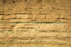 Στρώματα βράχου στο Ramon Crater Στοκ εικόνα με δικαίωμα ελεύθερης χρήσης