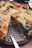 Στρώματα σπανακιού μπέϊκον Στοκ εικόνα με δικαίωμα ελεύθερης χρήσης
