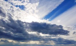 Στρώματα σύννεφων απογεύματος Στοκ εικόνα με δικαίωμα ελεύθερης χρήσης