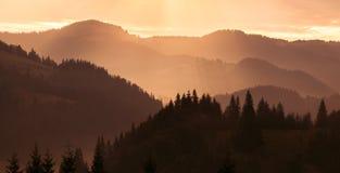 Στρώματα του βουνού Στοκ Εικόνες