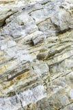 Στρώματα του ιζηματώδους ωκεάνιου βράχου στοκ εικόνες