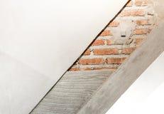 Στρώμα της κατασκευής ο τοίχος, τουβλότοιχος, τσιμέντο, αποστειρωμένο Aera Στοκ Φωτογραφία