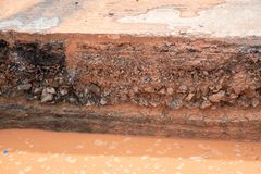 Στρώμα του χώματος και του δρόμου στοκ φωτογραφίες με δικαίωμα ελεύθερης χρήσης