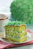 στρώμα τρία κέικ στοκ φωτογραφία