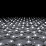 Στρώμα Graphene, τρισδιάστατο σχηματικό μοριακό πρότυπο απεικόνιση αποθεμάτων