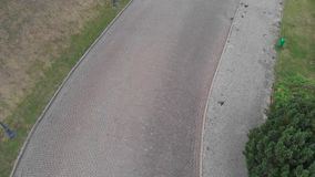 Στρώνοντας δρόμος E 4K απόθεμα βίντεο