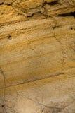στρώστε με άμμο τη σύσταση Στοκ Φωτογραφίες