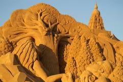 στρώστε με άμμο το γλυπτό Στοκ Εικόνες