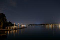 Στρώστε με άμμο το σημείο τη νύχτα Στοκ εικόνες με δικαίωμα ελεύθερης χρήσης