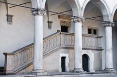 στυλοβάτες Πολωνία της Κρακοβίας κάστρων wawel Στοκ Φωτογραφία