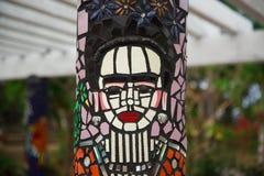 Στυλοβάτης μωσαϊκών Kahlo Frida στοκ φωτογραφία με δικαίωμα ελεύθερης χρήσης