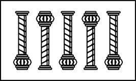 Στυλοβάτης πέντε clipart ελεύθερη απεικόνιση δικαιώματος