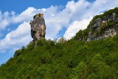 Στυλοβάτης Katskhi, μοναστήρι στη στήλη, Γεωργία στοκ φωτογραφίες με δικαίωμα ελεύθερης χρήσης