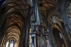 Στυλοβάτες και archs σε Stephansdom, καθεδρικός ναός του ST Stephen σε Vie Στοκ εικόνα με δικαίωμα ελεύθερης χρήσης