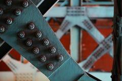Στυλοβάτης σιδήρου της γέφυρας Στοκ φωτογραφίες με δικαίωμα ελεύθερης χρήσης