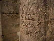 Στυλοβάτης του ναού Bayon σε Angkor Thom, Siemreap, Καμπότζη Στοκ Εικόνες
