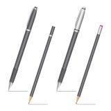 Στυλός και μολύβι Στοκ εικόνα με δικαίωμα ελεύθερης χρήσης