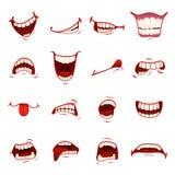 Στόμα κινούμενων σχεδίων με τα δόντια ελεύθερη απεικόνιση δικαιώματος