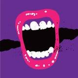 Στόμα κραυγής Στοκ Φωτογραφία
