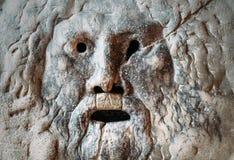 Στόμα της μαρμάρινης μάσκας Verita della Bocca αλήθειας στη Σάντα Μαρία στην εκκλησία βασιλικών Cosmedin στη Ρώμη στοκ εικόνες