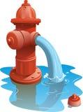 στόμιο υδροληψίας πυρκαγιάς ανοικτό διανυσματική απεικόνιση