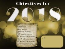 Στόχοι για το νέο έτος Στοκ Εικόνες