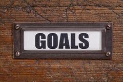 Στόχοι - ετικέτα εικονιδίων του διαχειρηστή αρχείων Στοκ Εικόνα