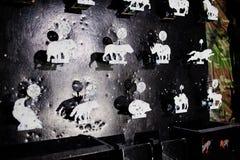 Στόχοι πυροβολισμού του υποβάθρου ζώων στη σειρά πυροβολισμού Στοκ φωτογραφίες με δικαίωμα ελεύθερης χρήσης