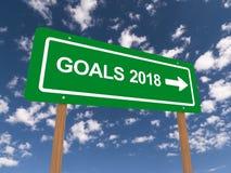 Στόχοι 2018 διανυσματική απεικόνιση