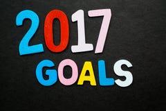 2017 στόχοι Στοκ εικόνες με δικαίωμα ελεύθερης χρήσης