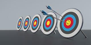 5 στόχοι Bullseye διανυσματική απεικόνιση